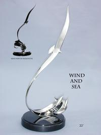 """Wind and Sea""Bronze and Stainless Sculpture by Scott Hanson - Marine Wildlife Sculpture - Bronze and Stainless Ocean themed Sculpture by Scott Hanson -"